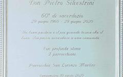 Targa per Don Piero Silvestrini 60 anni di sacerdozio